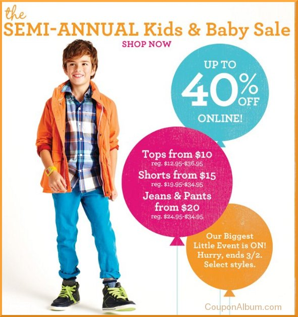 e390af68e10d8 Gap Semi-Annual Kids & Baby Sale! | Online Shopping Blog