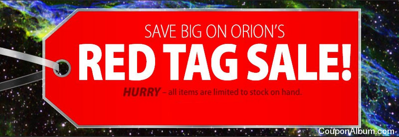 orion red tag sale