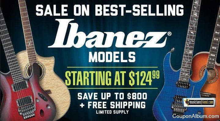 Musicians Friend Ibanez Guitar Sale
