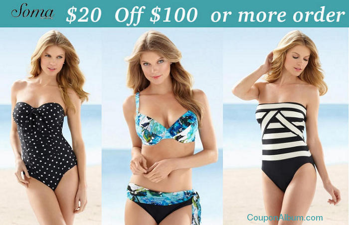 Soma Intimates Promo Codes for November, Save with 11 active Soma Intimates promo codes, coupons, and free shipping deals. 🔥 Today's Top Deal: Save $20 Off On Orders Of $ Or More + Free Shipping On Swimwear & Selected Bras. On average, shoppers save $28 using Soma Intimates coupons from dalmanco.ml