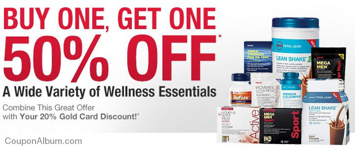 gnc bogo 50 off wellness products