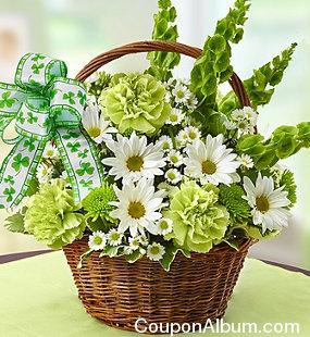 st. patricks day flower basket