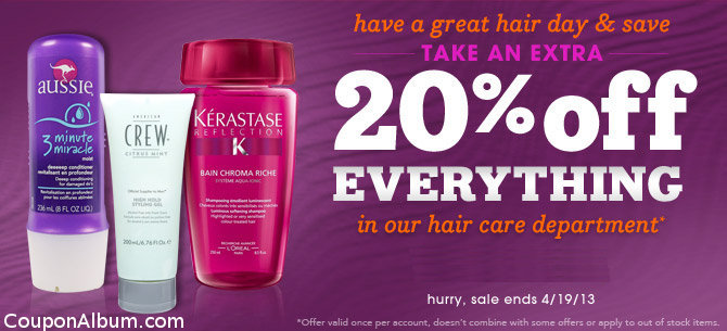 drugstore hair care offer