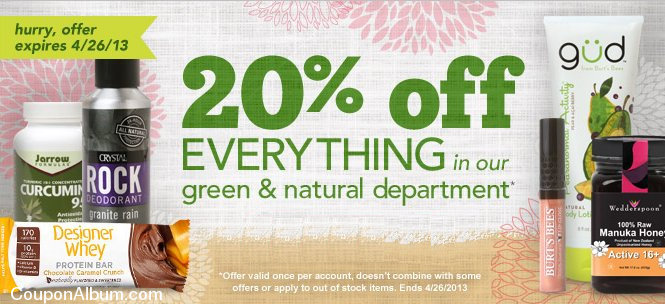 drugstore natural products coupon