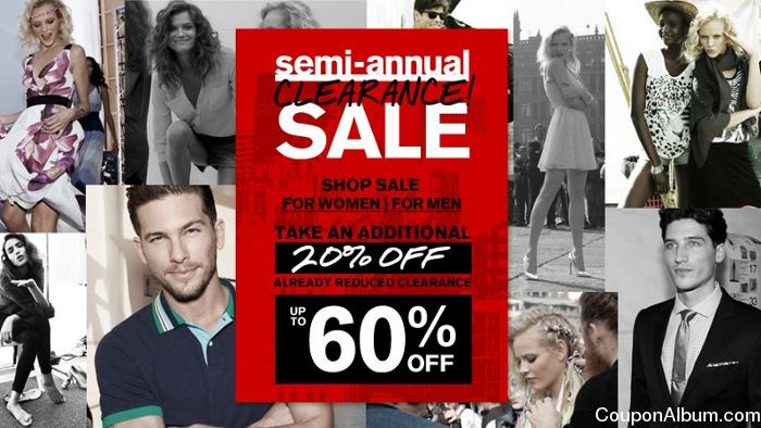 express semi-annual clearance sale
