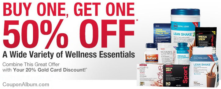 gnc health products coupons