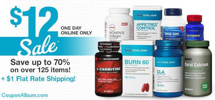 gnc one day sale