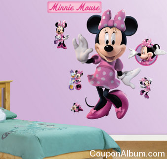 minnie mouse fathead wall graphics