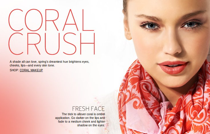 nordstrom coral crush makeup