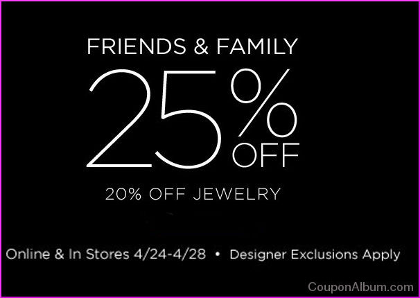 saks fifth avenue friends and family