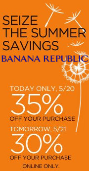 banana republic offer