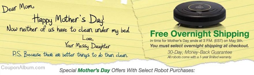 irobot mothers day special