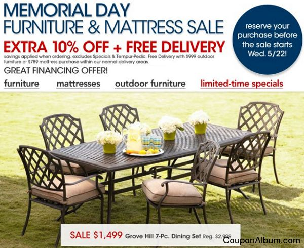 macys memorial day furniture sale