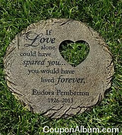 memorial heart cut-out stepping stone