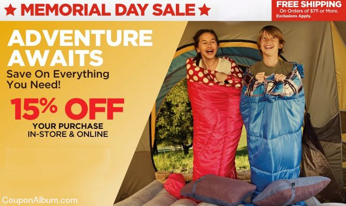 sports authority memorial day sale