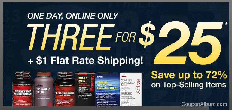 GNC Online Only Coupon