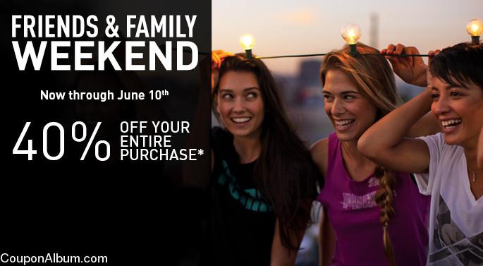 friends & family weekend 2013