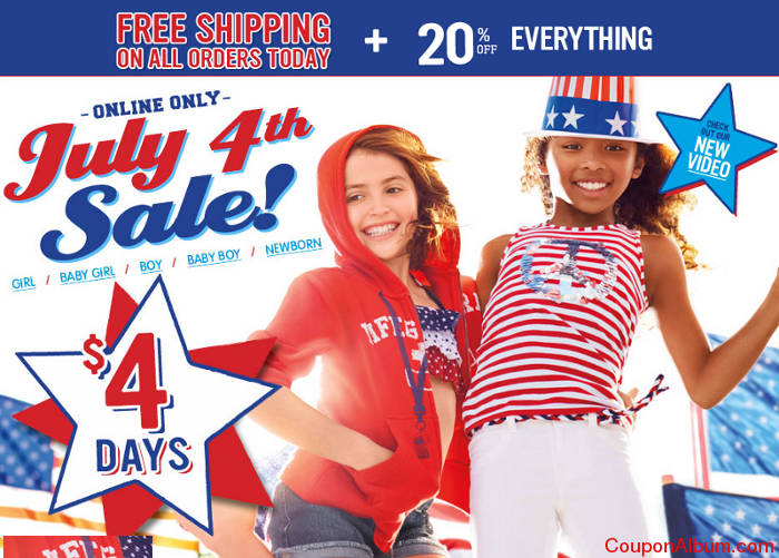 children's place july 4th savings