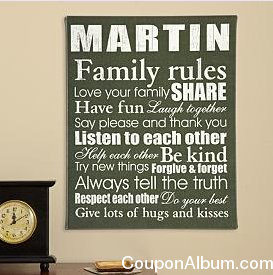 family rules canvas