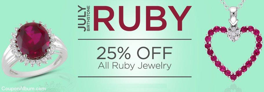 ice ruby birthstone jewelry