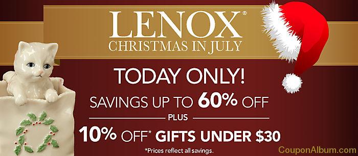lenox christmas in july sale