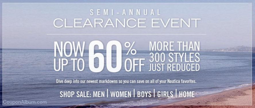 nautica semi annual clearance event