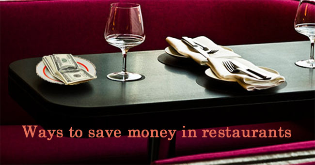 save money at restaurant