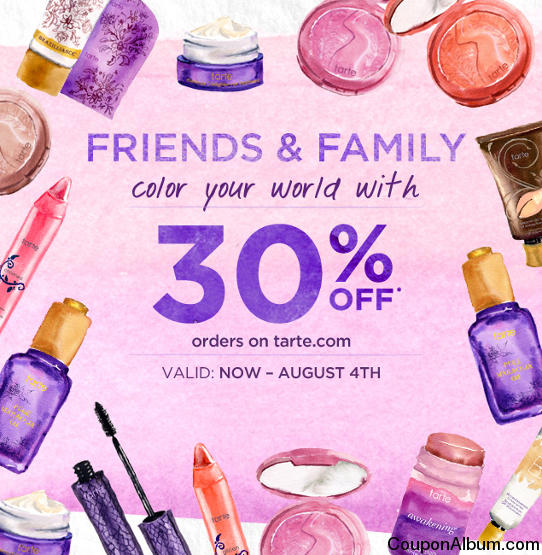 tarte cosmetics friends & family event