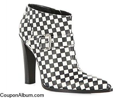 altuzarra checkerboard print ankle boots