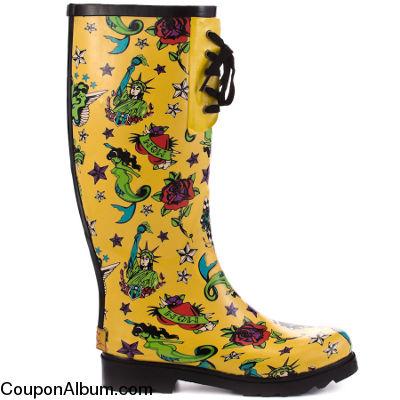 baxterr tattoo print boots