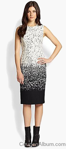 burberry prorsum ombre speckled wool dress