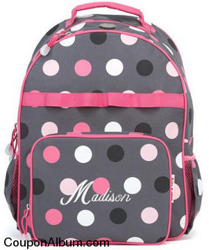 grey multi-dots backpack
