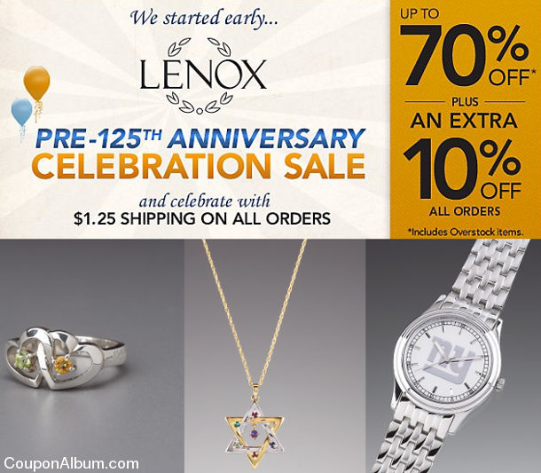 lenox pre anniversary celebration sale
