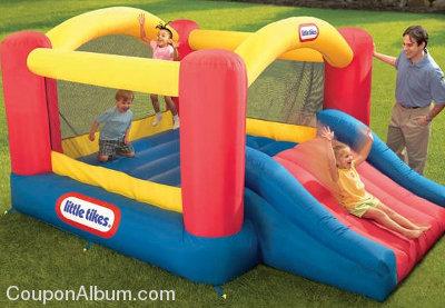little tikes jump n slide bouncer