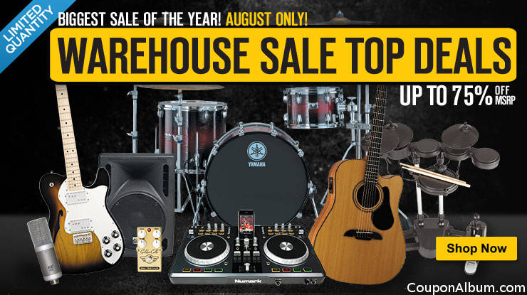 musicians friend biggest sale of the year