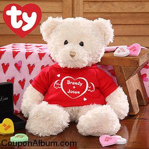 personalized heart teddy bear