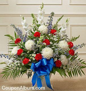 heartfelt tribute floor basket arrangement