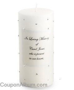 swarovski crystal memorial candle