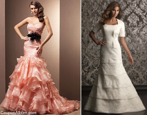 tiered wedding gowns