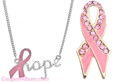 emitations breast cancer jewelry
