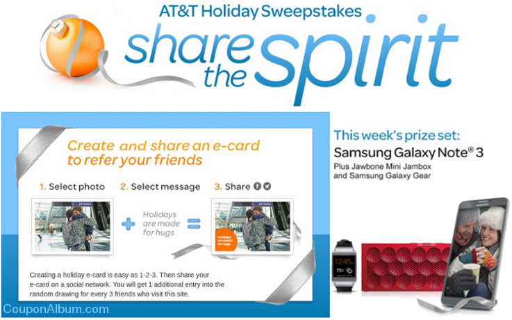 att holiday sweepstakes