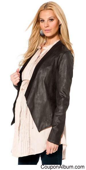 Jessica-Simpson-Leather-Maternity Jacket