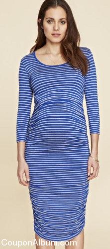 dawson stripe maternity dress