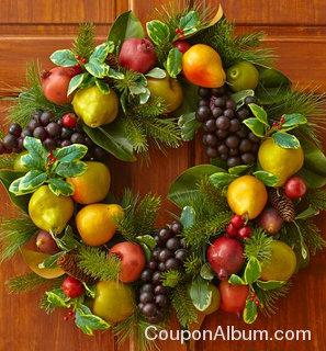 faux fruit wreath