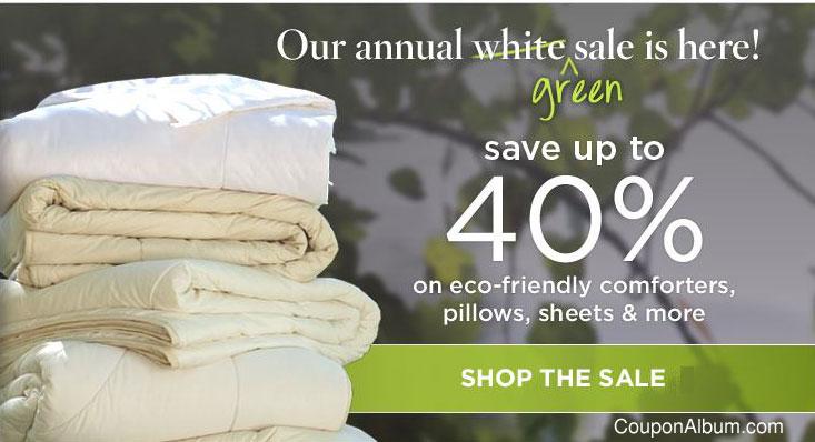 Gaiam.com Annual Organic Bedding Sale