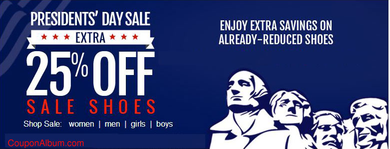 Shoes.com Predident's Day Sale