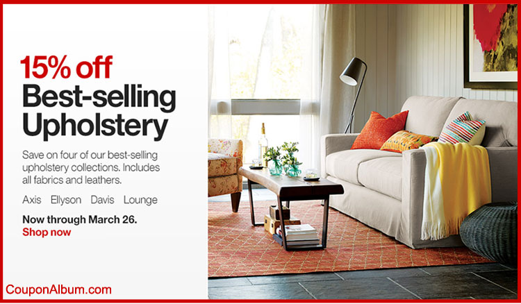 Crate and Barrel Spring Upholstery Event