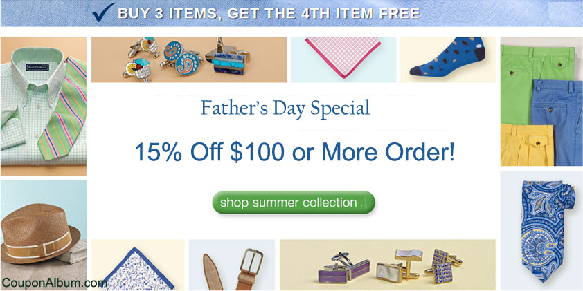 Paul Fredrick Father's Day Offer
