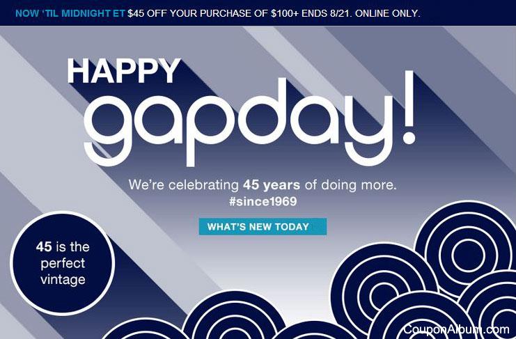 Gap Birthday Offer