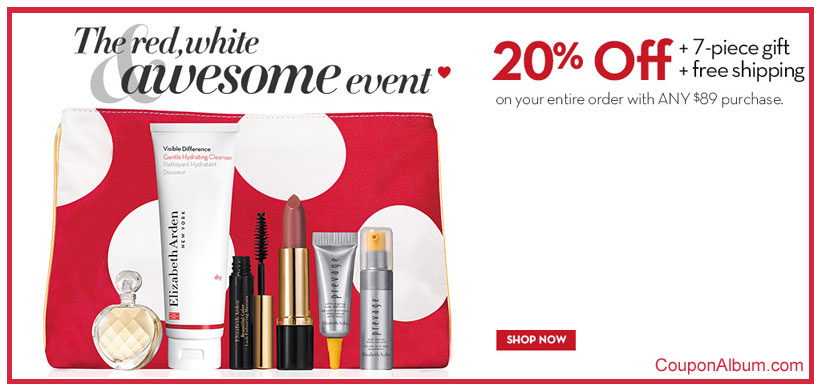 Elizabeth Arden The Red and White Awesome Event